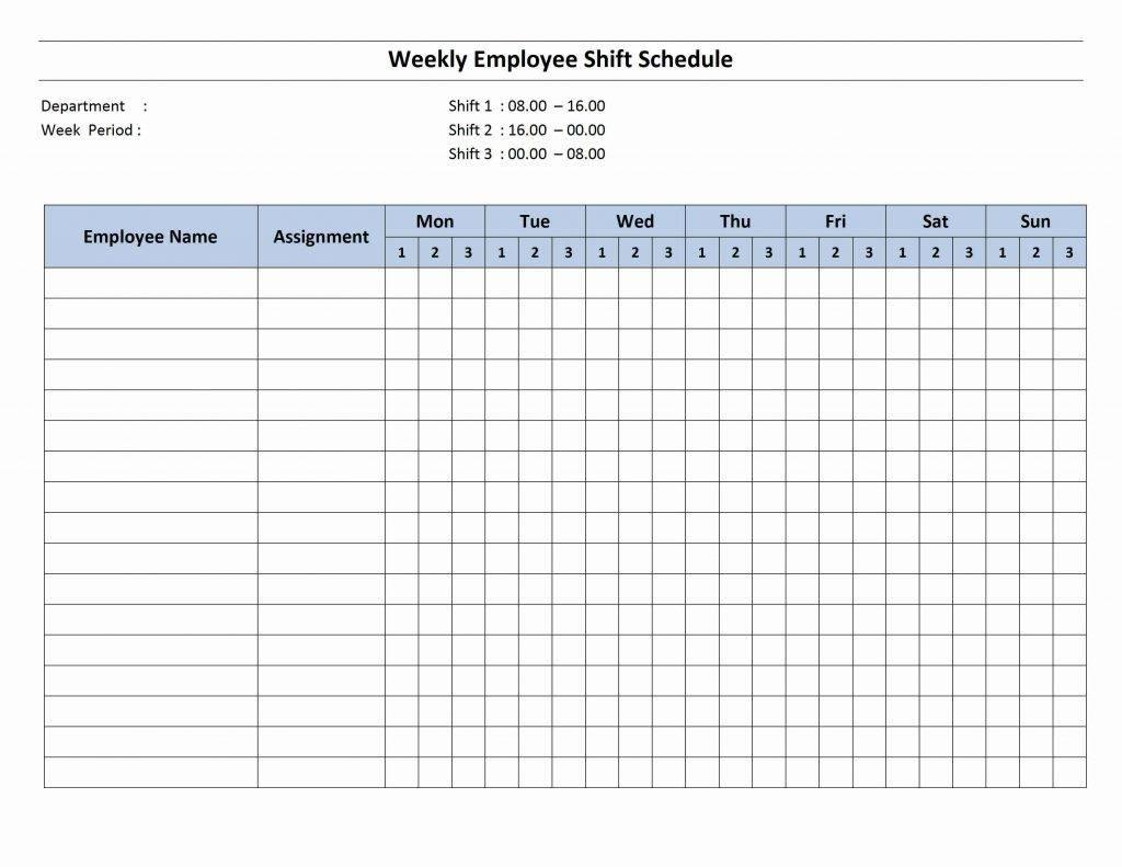 Weekly Work Schedule Template Open Office