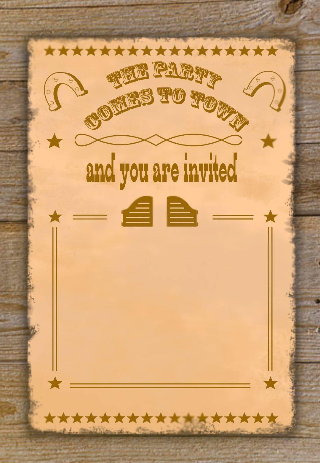 Western Invitation Template Free
