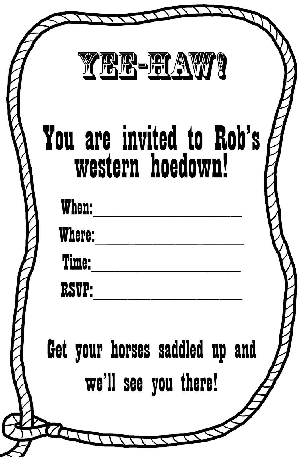 Western Invitation Templates Free