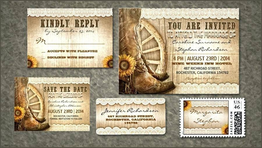 Western Theme Invitation Templates