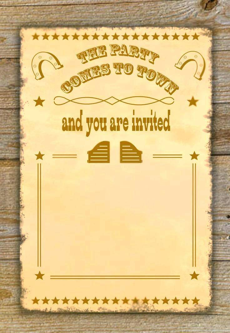 Western Theme Party Invitation Template