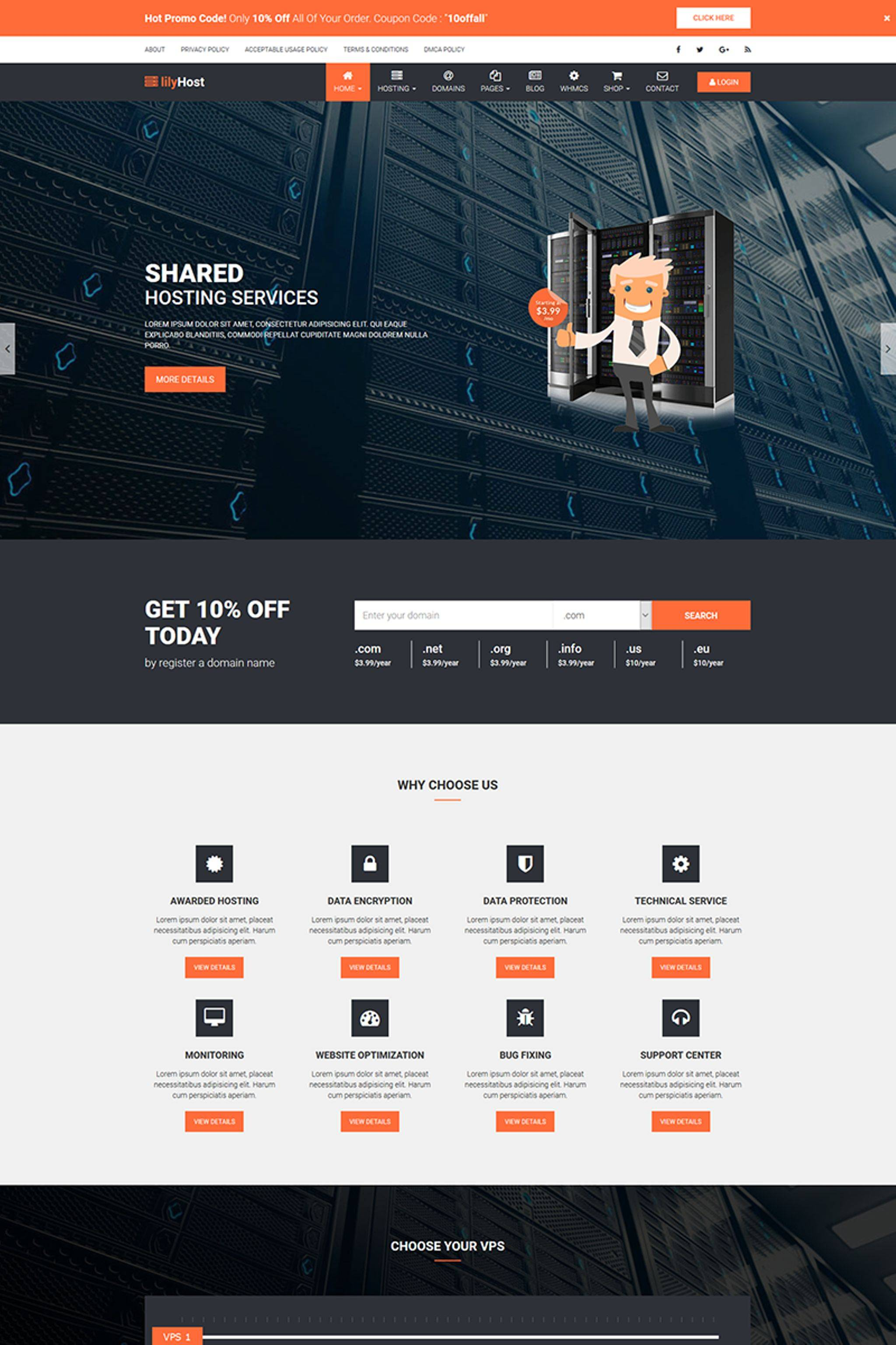 Whmcs Hosting Template Nulled