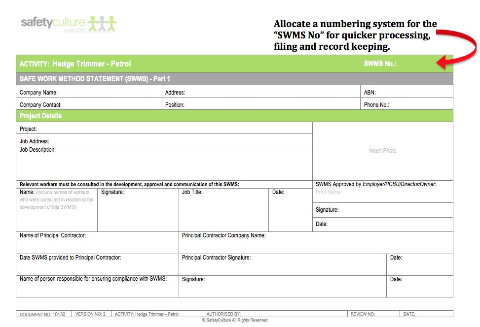Whs Risk Assessment Form Qld