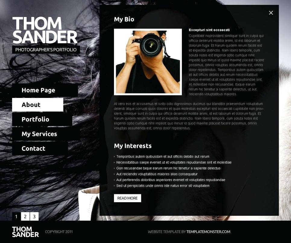 Wildlife Photography Website Templates Free Download