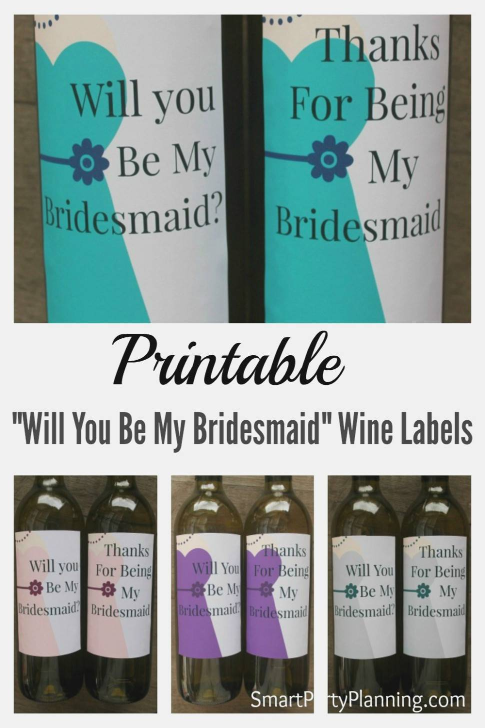 Will You Be My Bridesmaid Wine Label Template