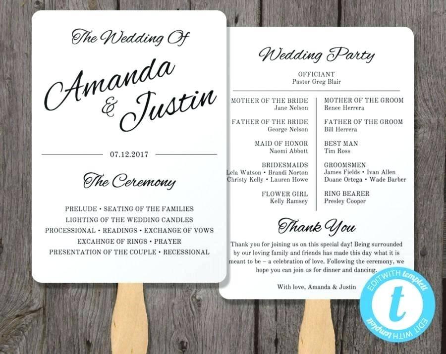 Wilton Wedding Program Fan Templates