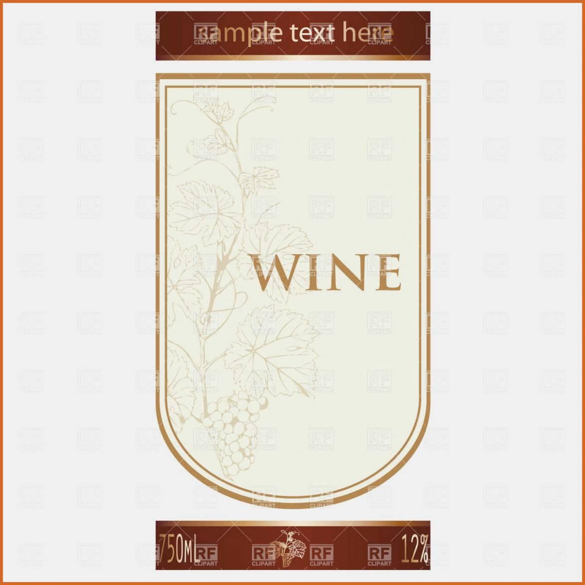 Wine Bottle Label Template Word Free