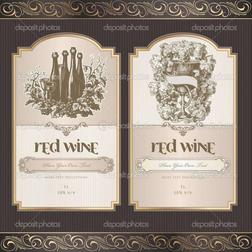 Wine Bottle Label Template Word