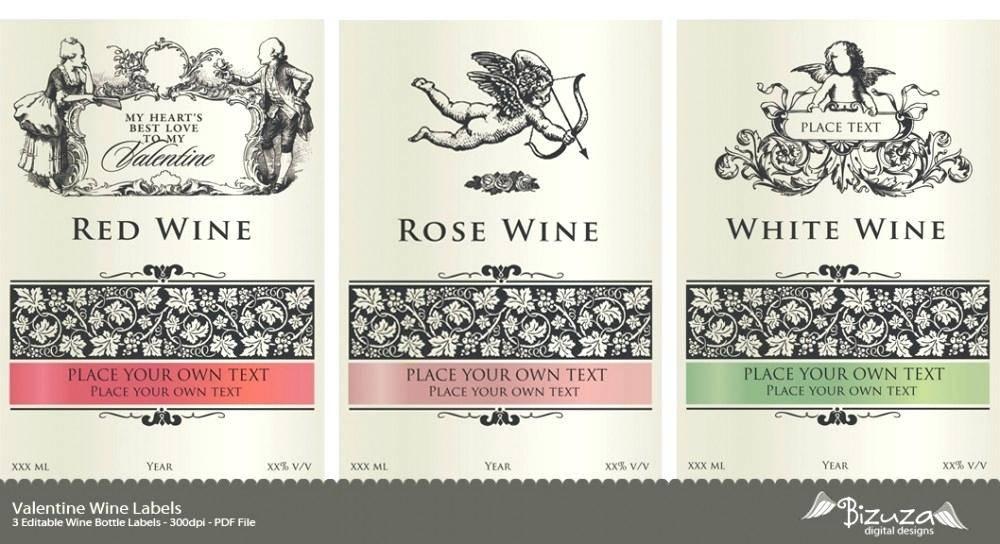 Wine Bottle Sticker Template