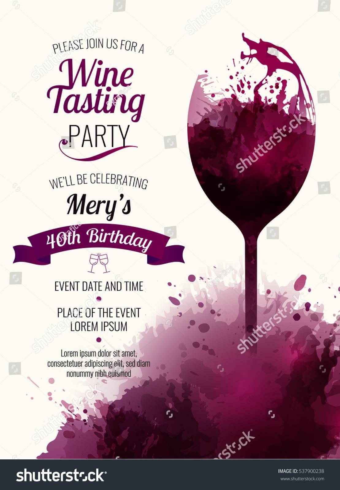 Wine Event Invitation Template