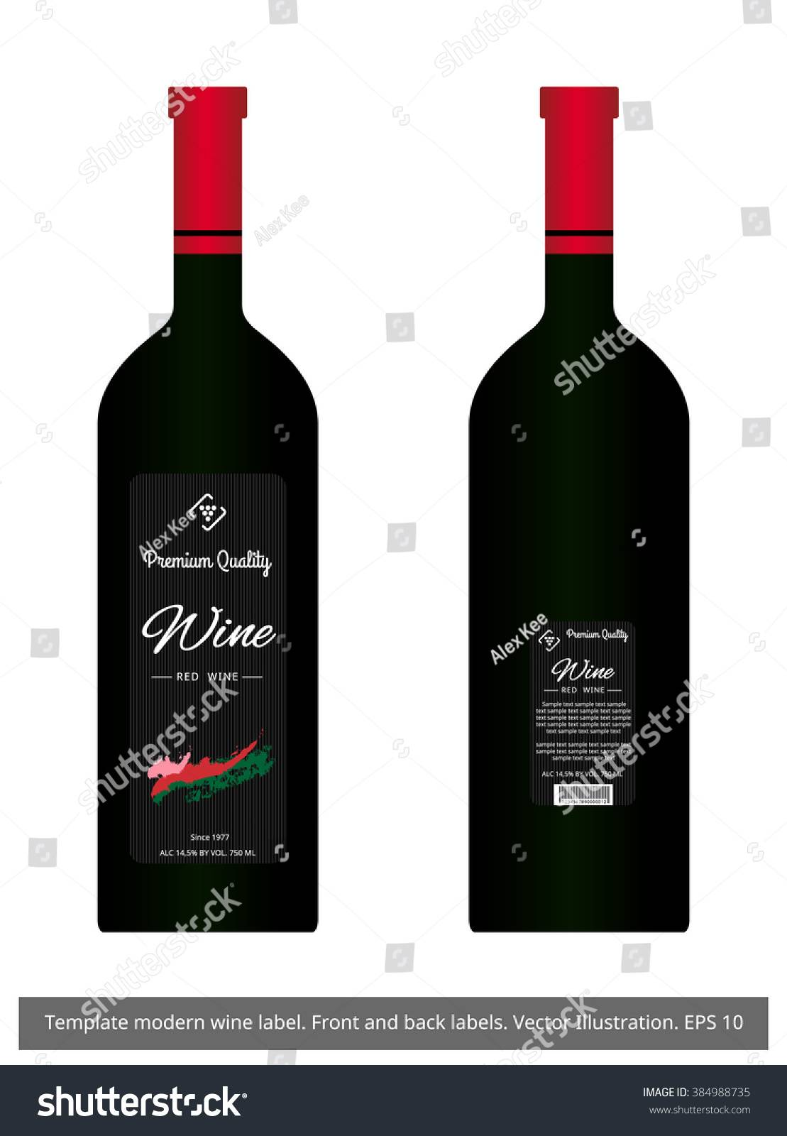 Wine Label Template Vector Free