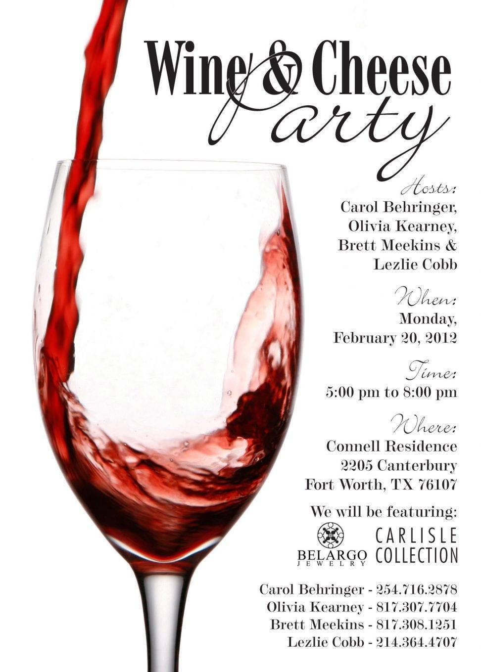 Wine Party Invitation Template