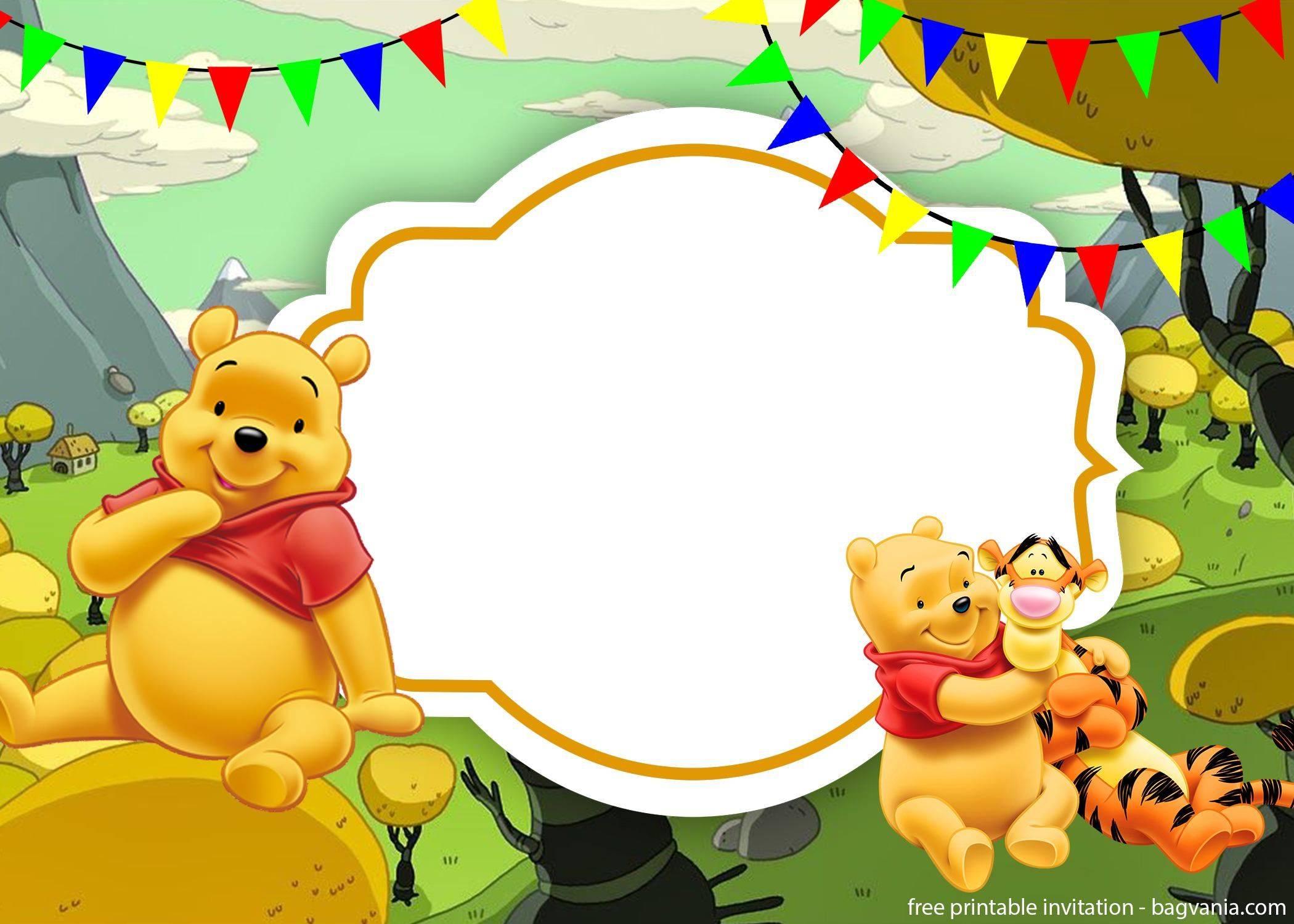 Winnie The Pooh Invitation Template