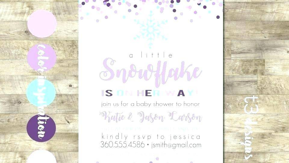 Winter Party Invitation Template Word