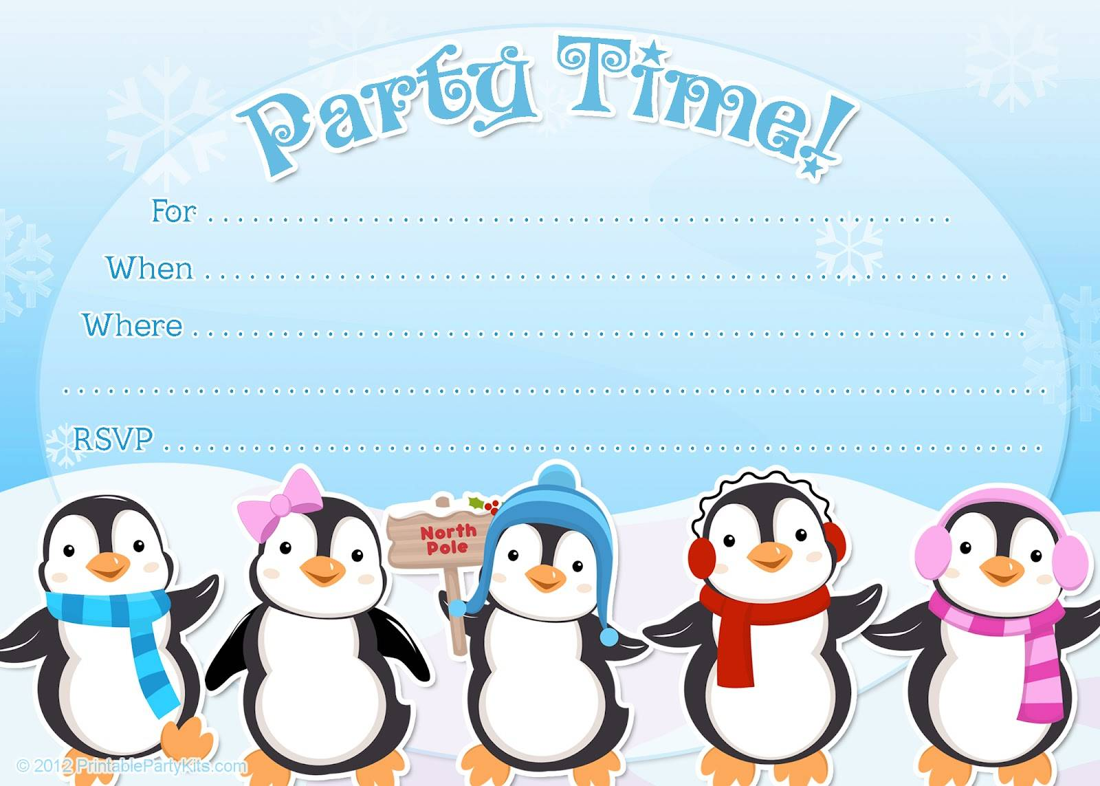 Winter Wonderland Party Invitations Template