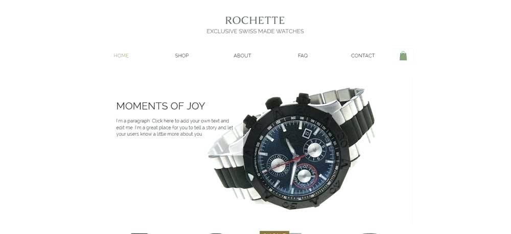 Wix Ecommerce Template Price
