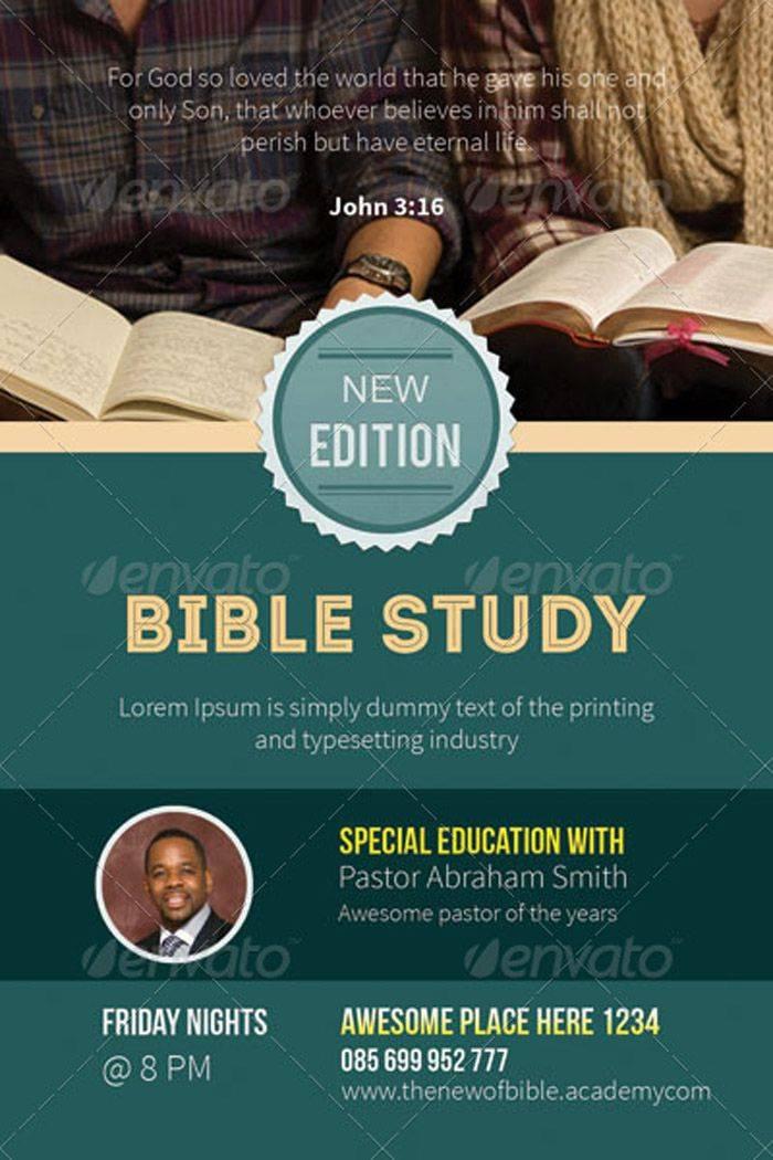 Women's Bible Study Flyer Template Free