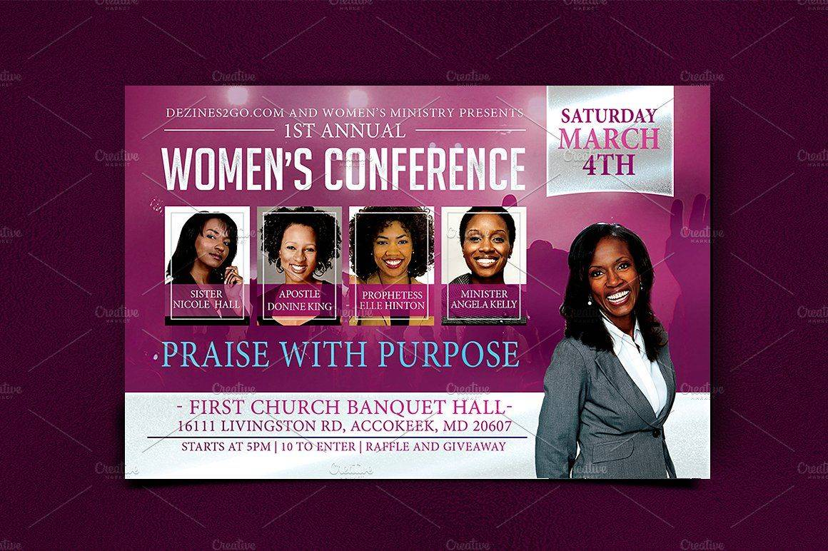 Women's Conference Flyer Template Free
