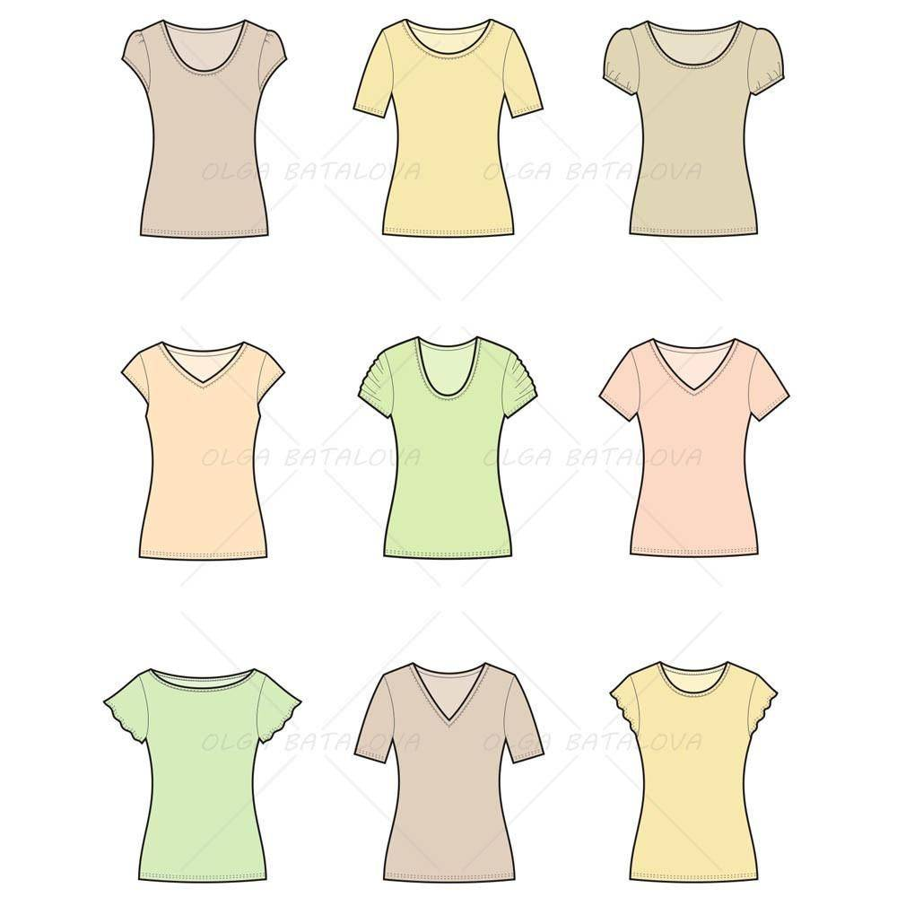 Women's T Shirt Template Photoshop