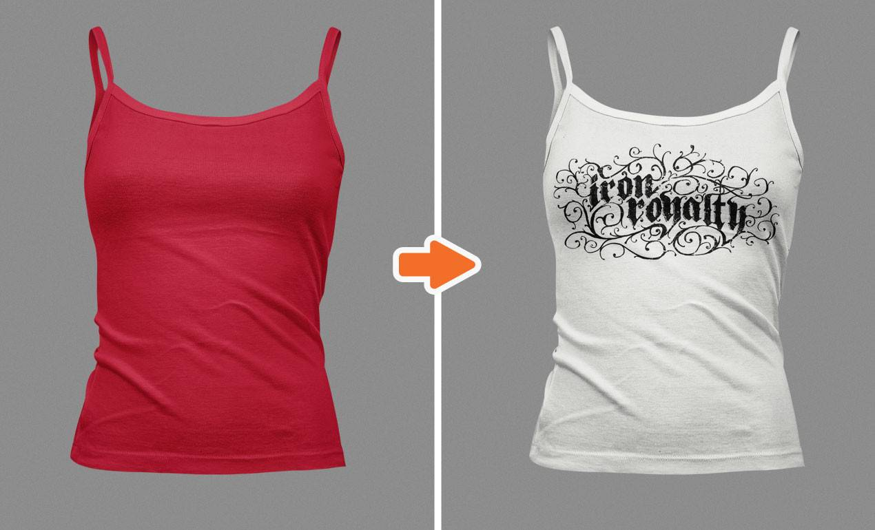 Women's Tank Top Mockup Template