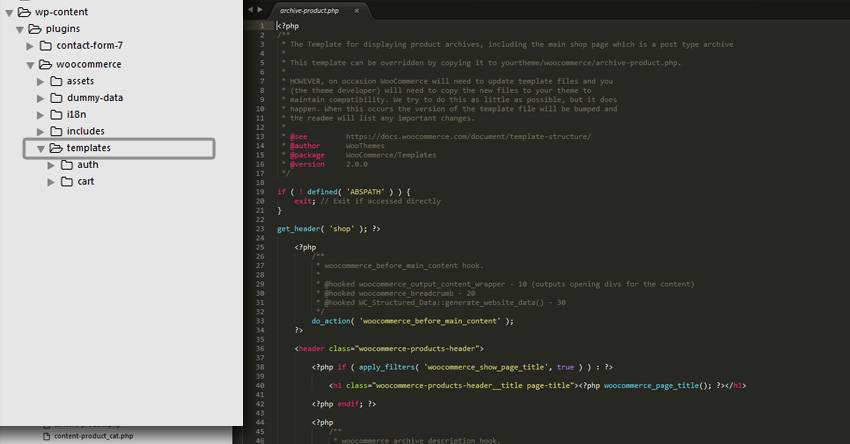 Woocommerce Theme Template Structure