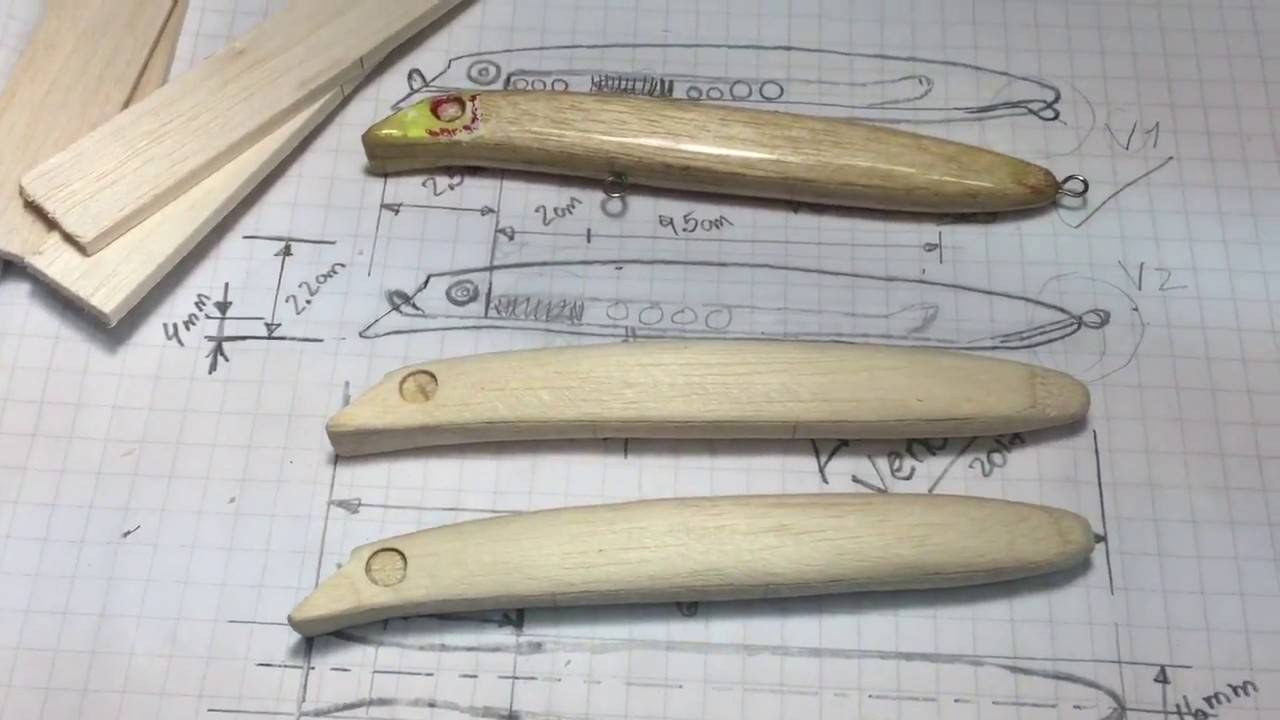 Wooden Fishing Lure Templates