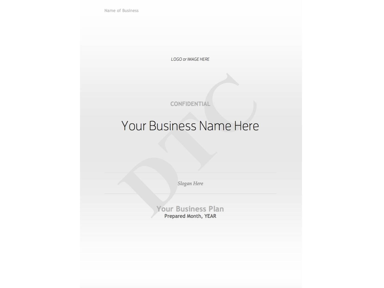 Word Business Plan Template Mac