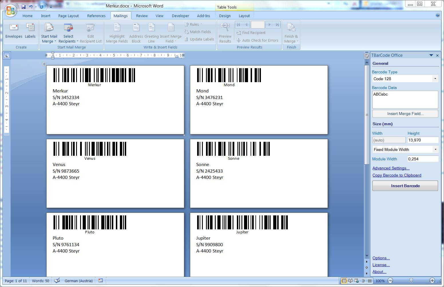 Word Doc Template For Printing Labels