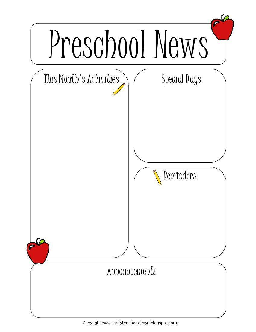 Word Newsletter Templates For Teachers