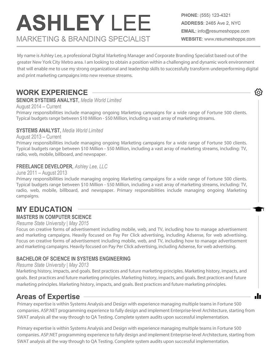 Word Resume Template Mac Free