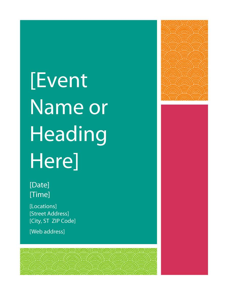 Word Template Event Flyer