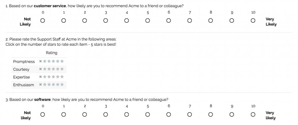 Word Template For Customer Satisfaction Survey