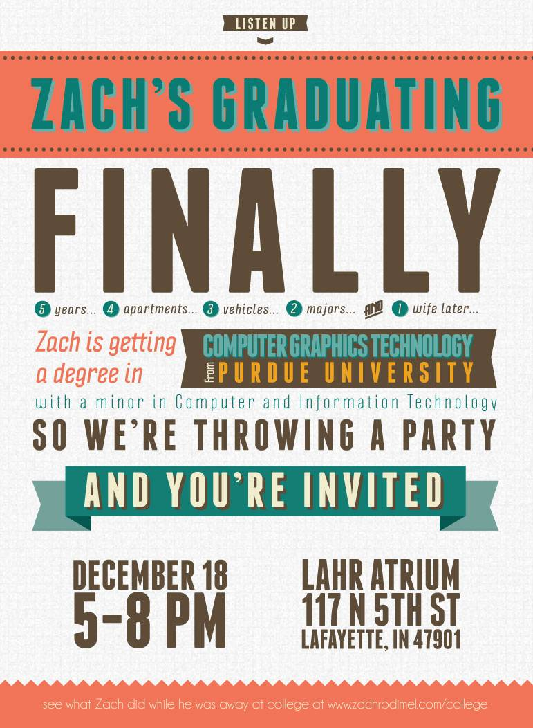 Word Template Graduation Invitation