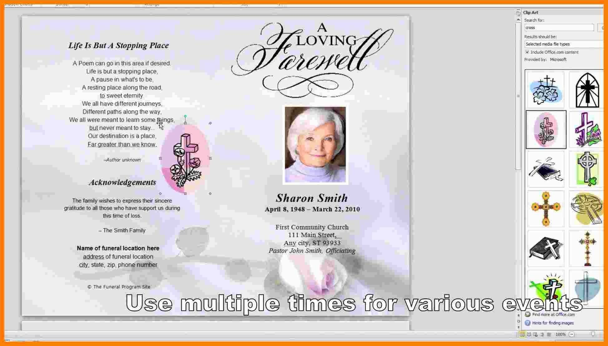 Word Templates For Funeral Programs
