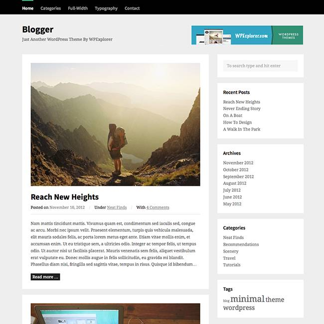WordPress Blog Templates Free