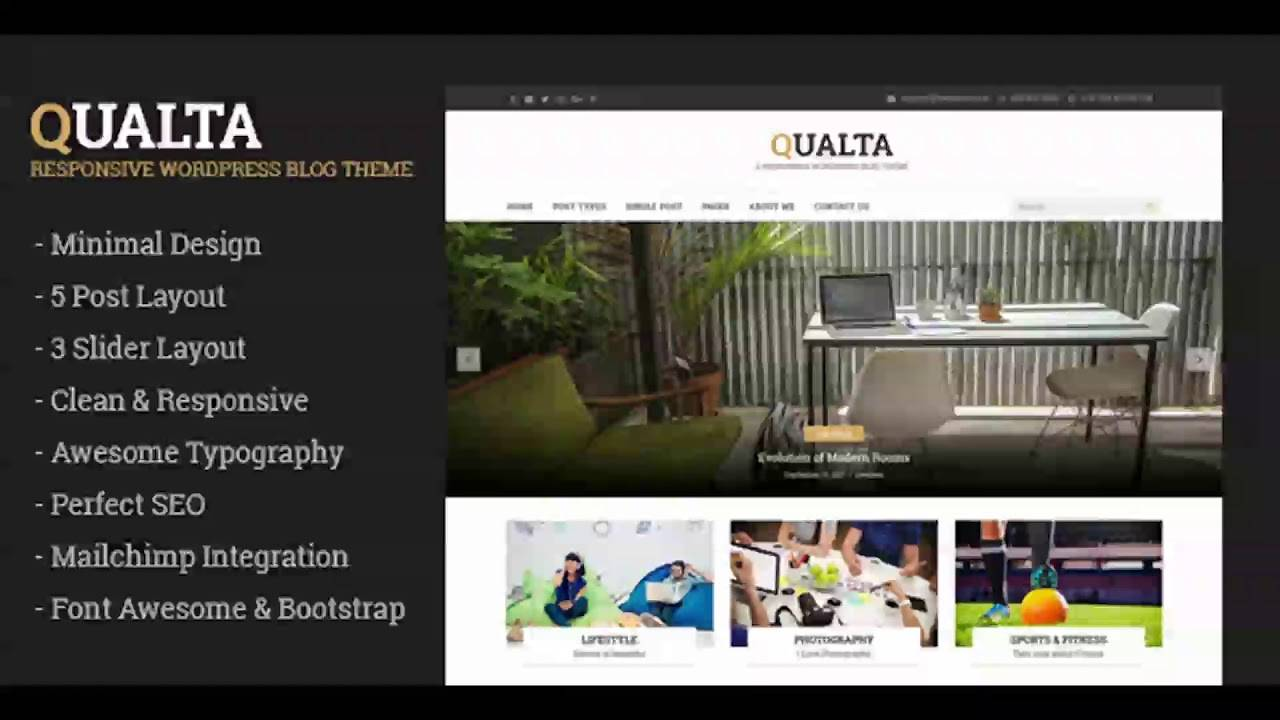 WordPress Blog Templates Responsive