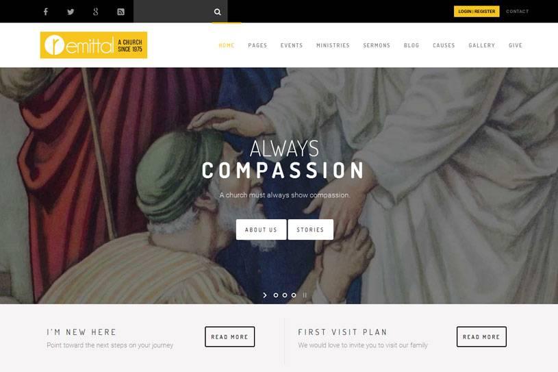 WordPress Church Themes Free