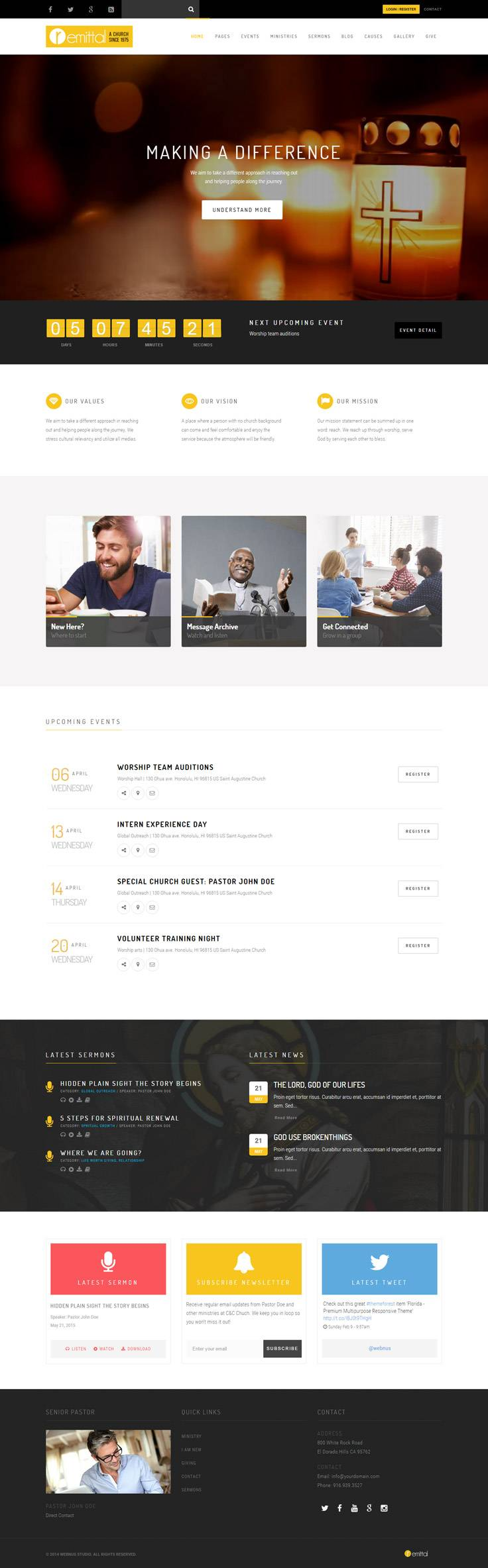 WordPress Church Themes Premium