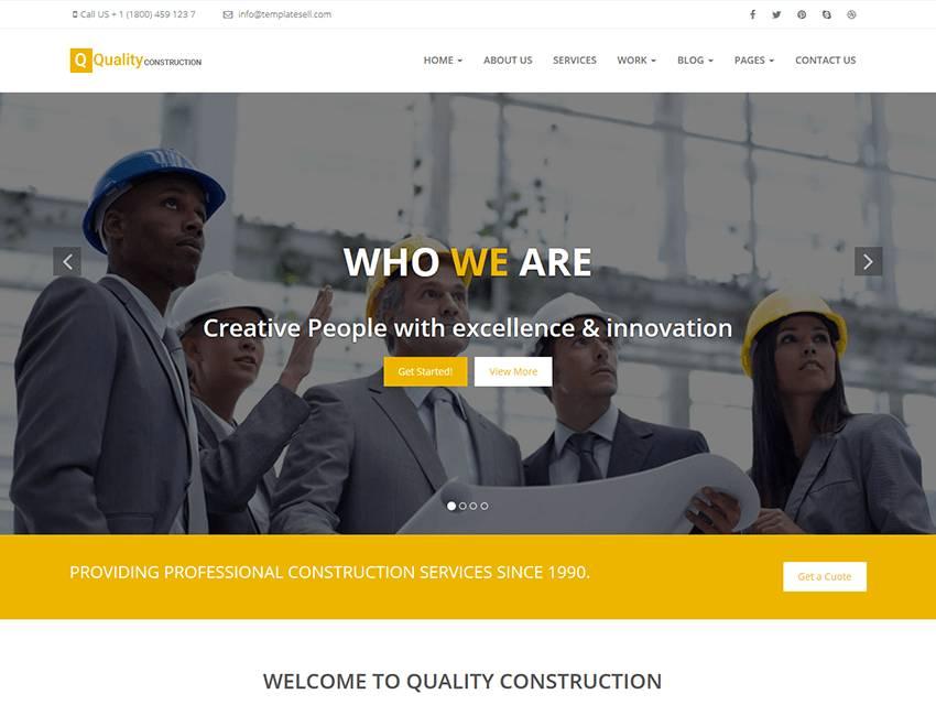 Wordpress Construction Template Free