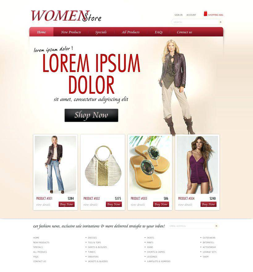 WordPress Ecommerce T Shirt Templates