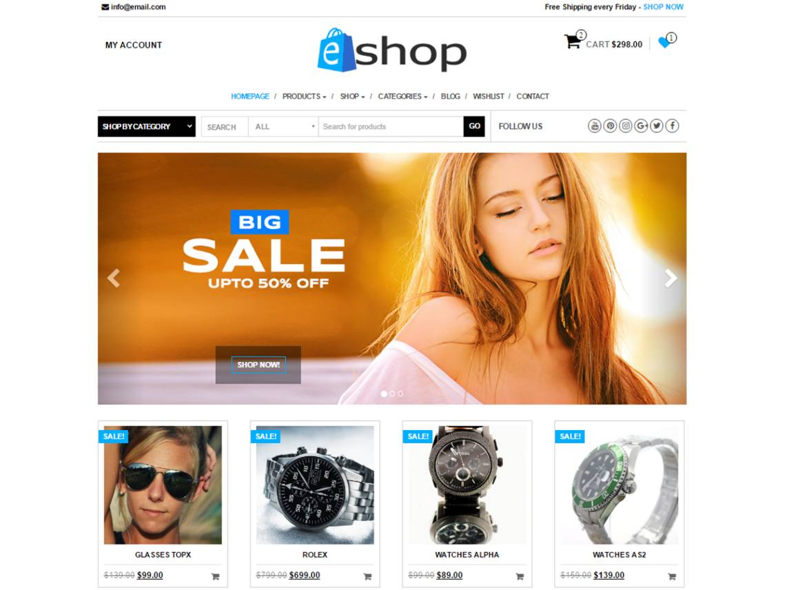 WordPress Ecommerce Template Free Download