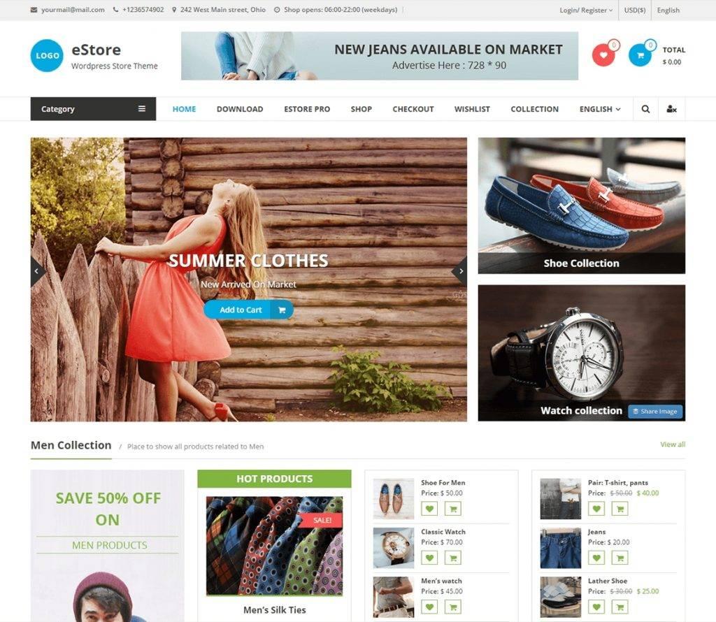 WordPress Ecommerce Template Free