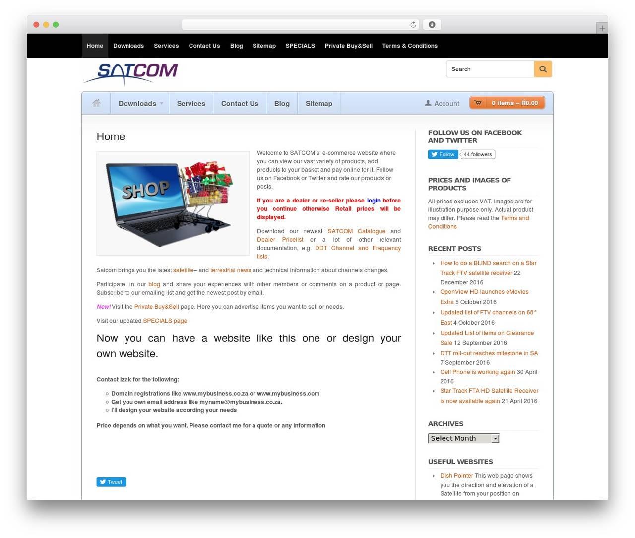 WordPress Ecommerce Template