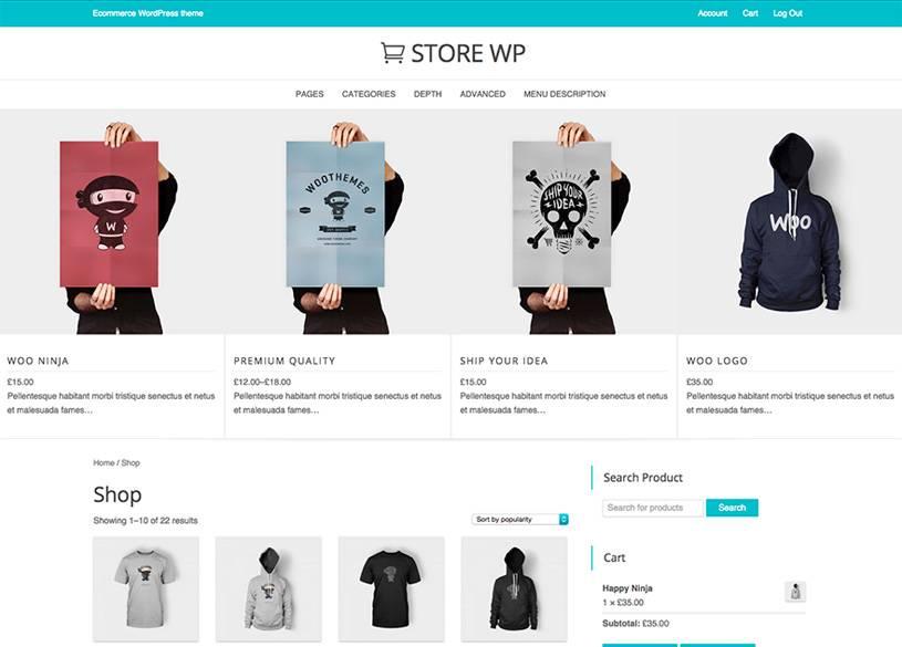 WordPress Ecommerce Templates Free