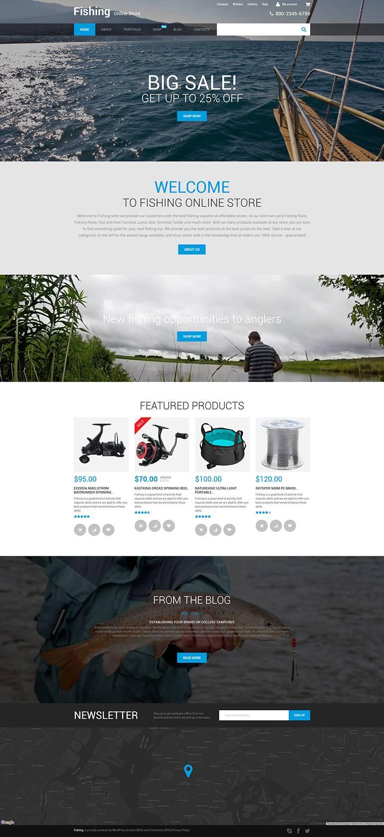 WordPress Ecommerce Web Template