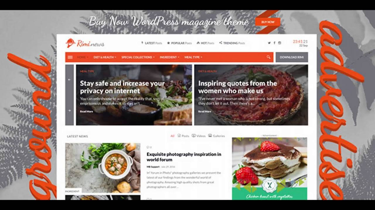 WordPress Food Blog Templates