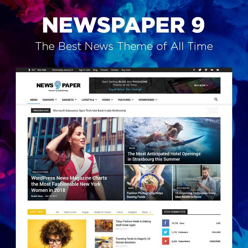 WordPress Newspaper Templates Free Download