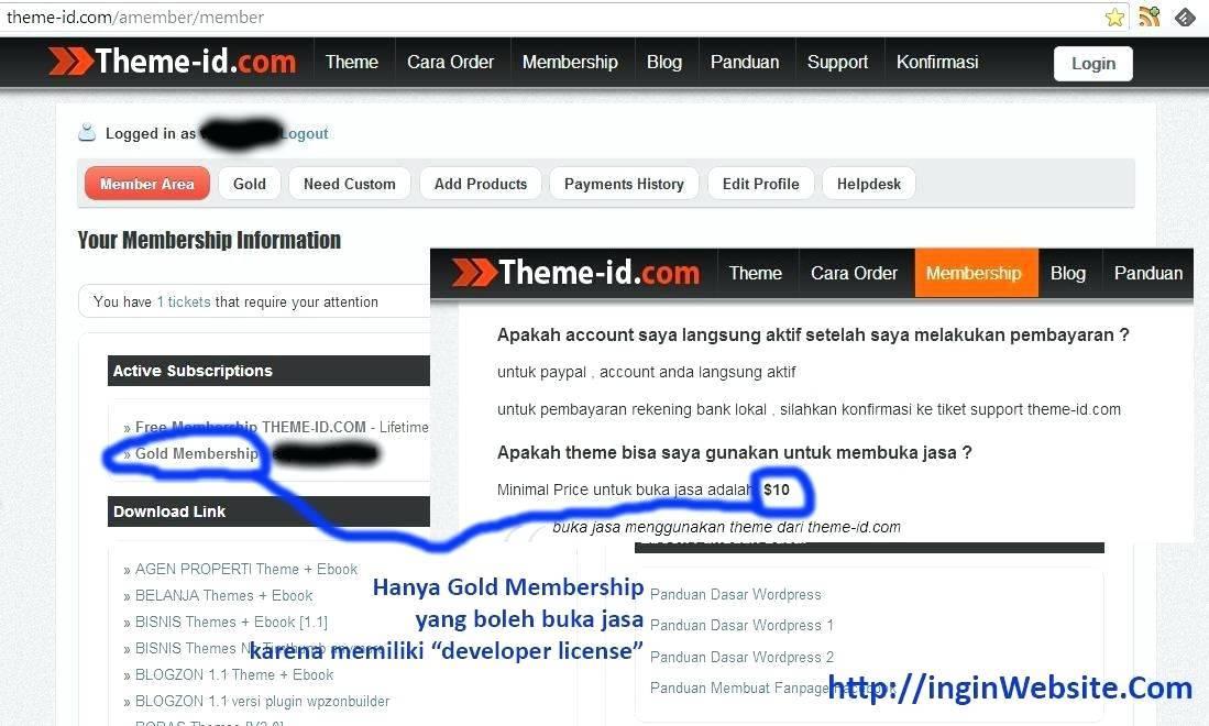 WordPress Paid Template