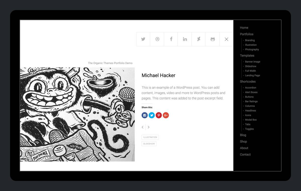 WordPress Portfolio Theme For Artists