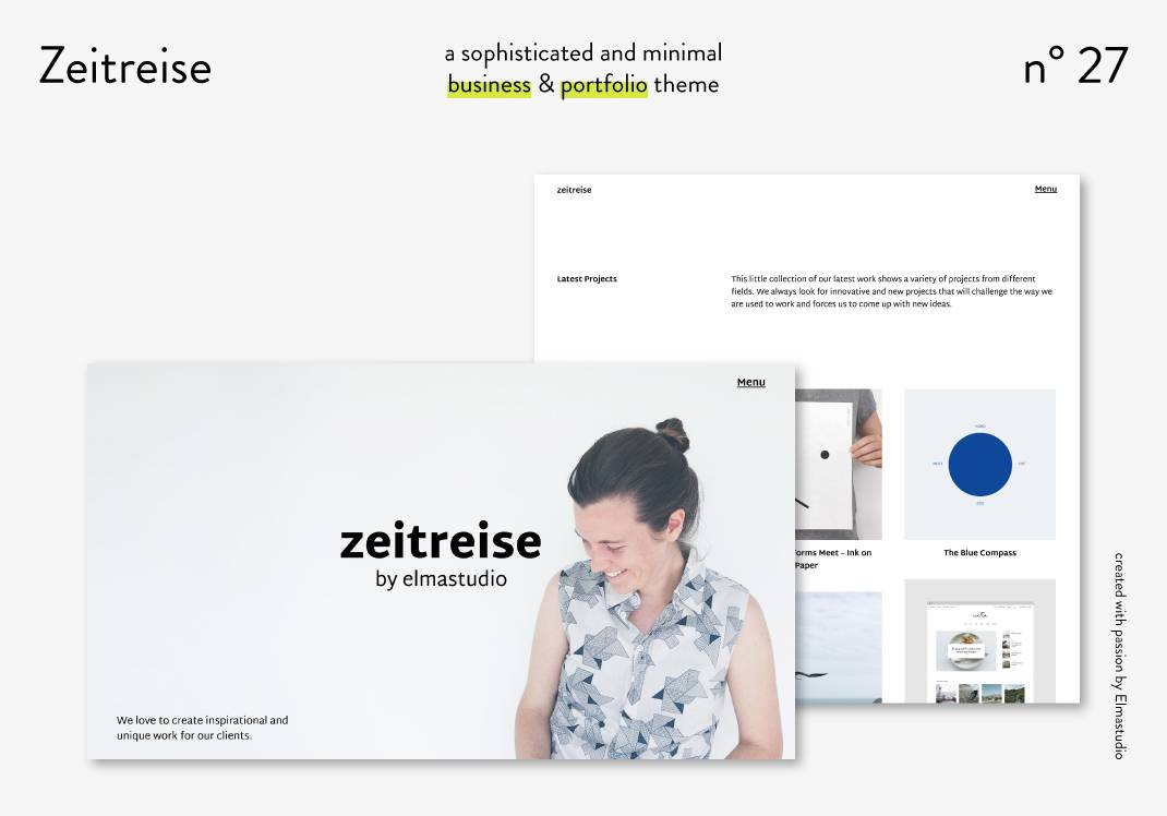 Wordpress Portfolio Theme Minimal